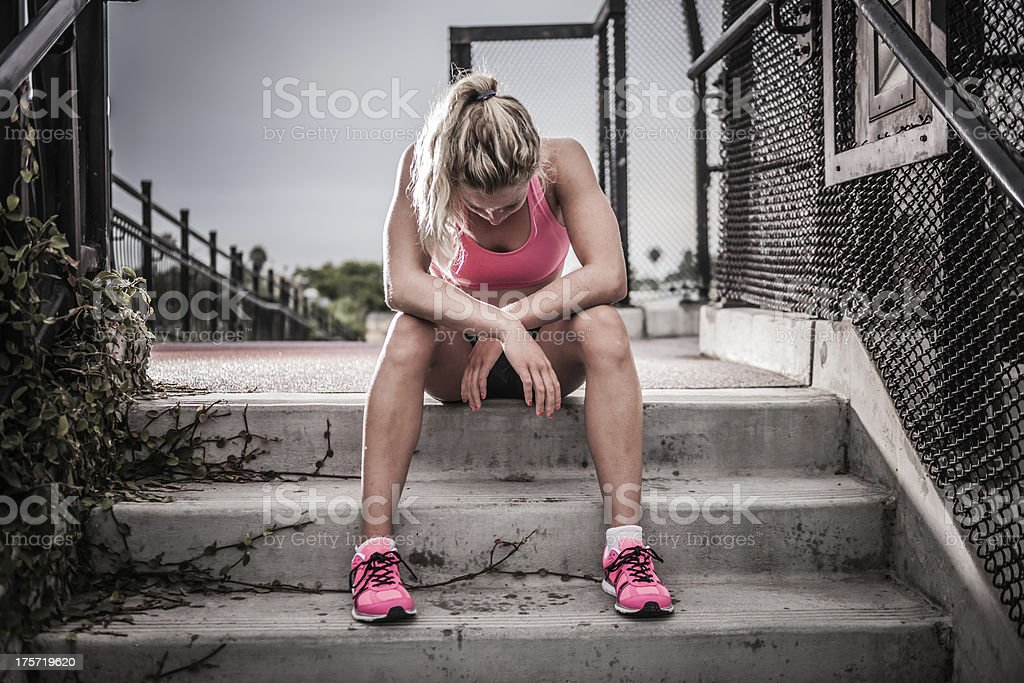 Exhausted Runner royalty-free stock photo