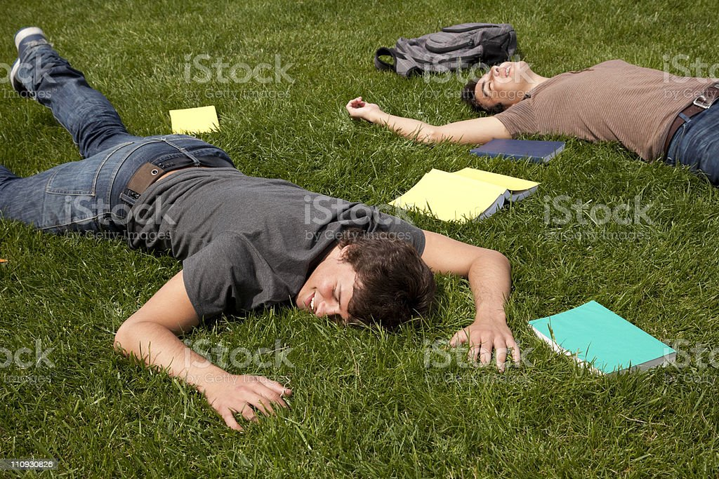 Exhausted with to much study royalty-free stock photo
