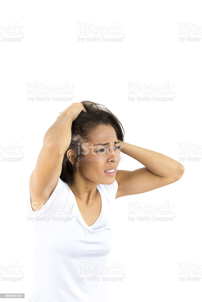 Exhausted Woman royalty-free stock photo