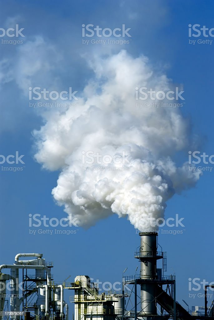 Exhausting chimney royalty-free stock photo