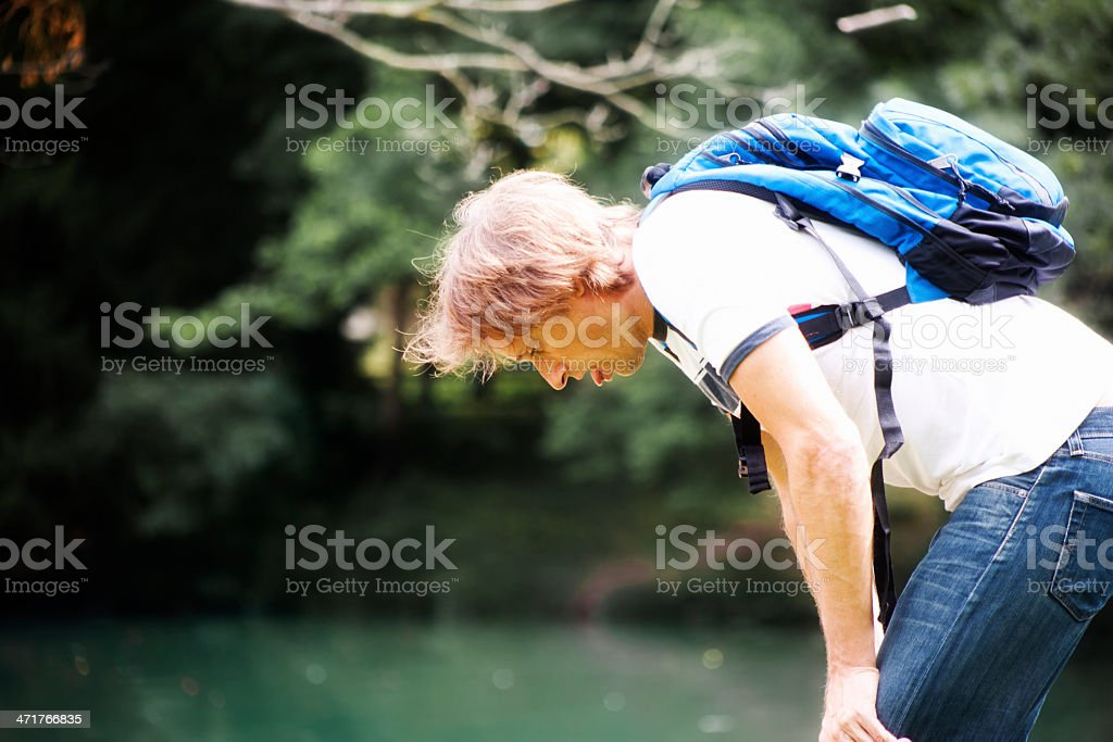 Exhaustion royalty-free stock photo