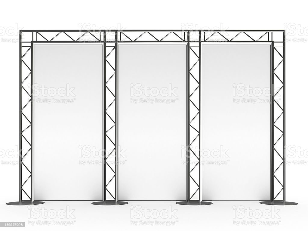 exhibition display stand stock photo