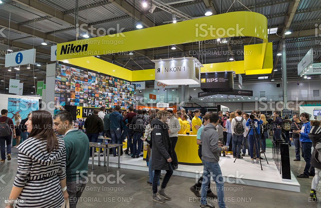 CEE 2016 exhibition of electronics in Kiev, Ukraine. stock photo