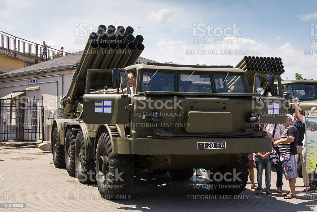 Odesa, Ukraine - July 03, 2016: Exhibition of military vehickles stock photo