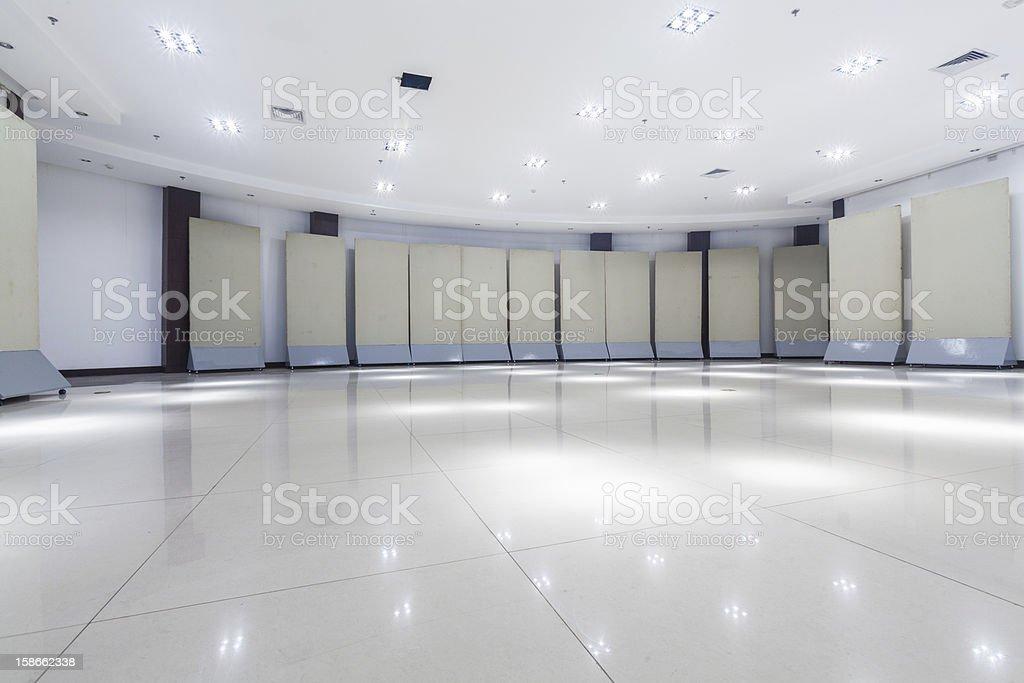 exhibition room stock photo