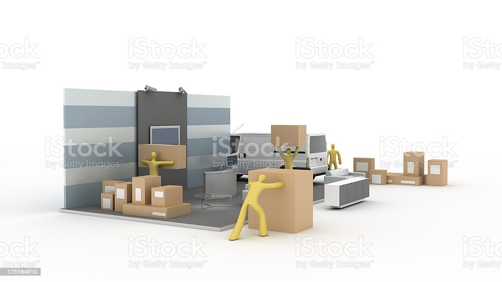 Exhibition Stand construction royalty-free stock photo
