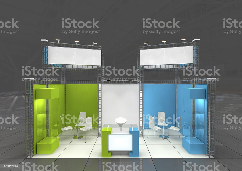 exhibition stand design stock photo