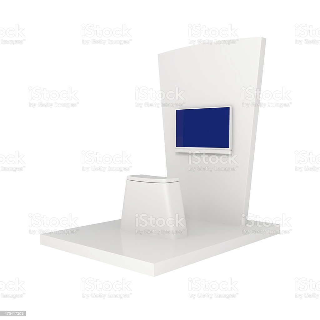 Exhibition Stand isolated on white - 3d illustration royalty-free stock photo