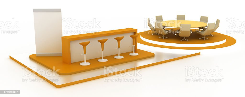 Exhibition stand with board room royalty-free stock photo