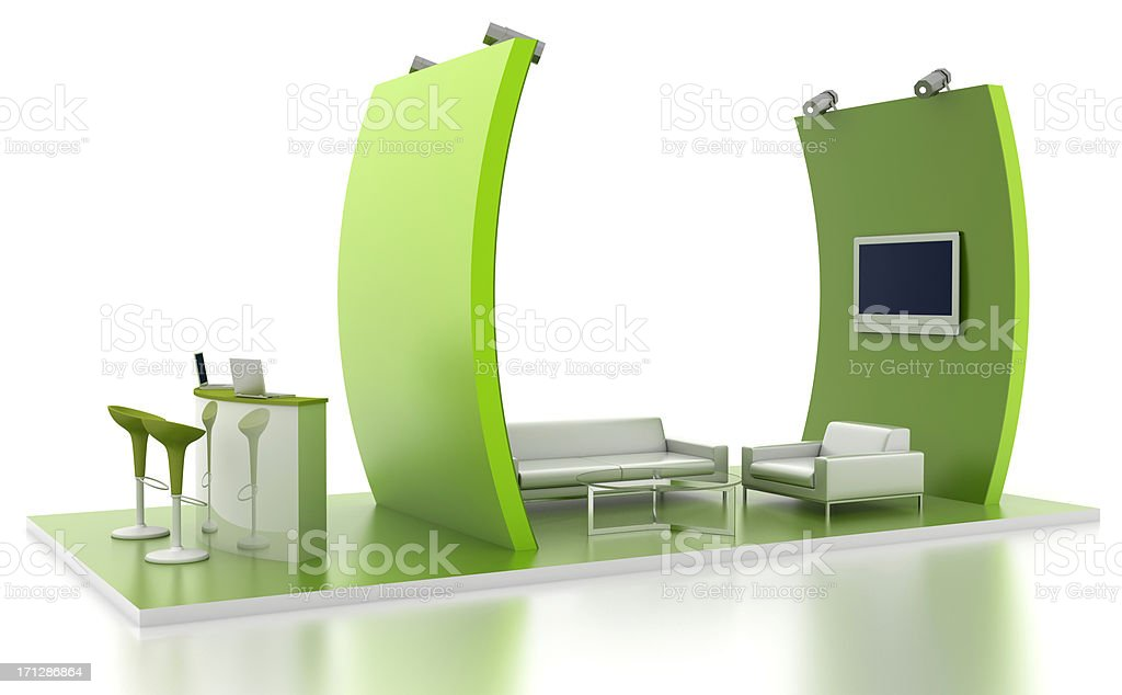 Exhibition stand with lounge royalty-free stock photo