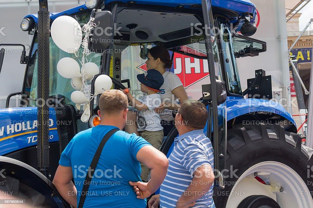 Exhibits International agro-industrial exhibition. Ukraine, Kiev stock photo