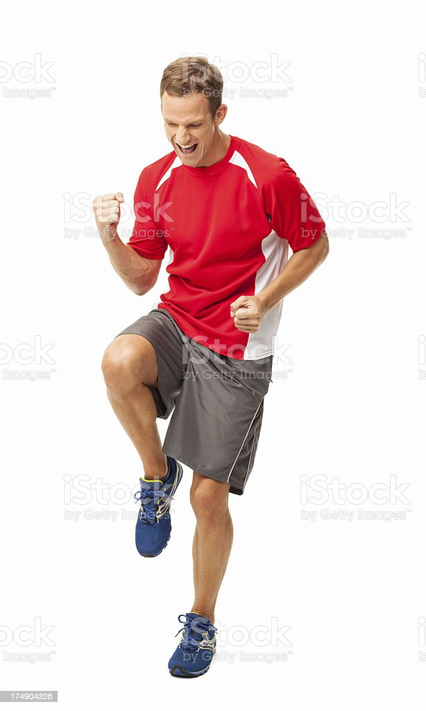 Exhilarated Sports Instructor - Isolated royalty-free stock photo