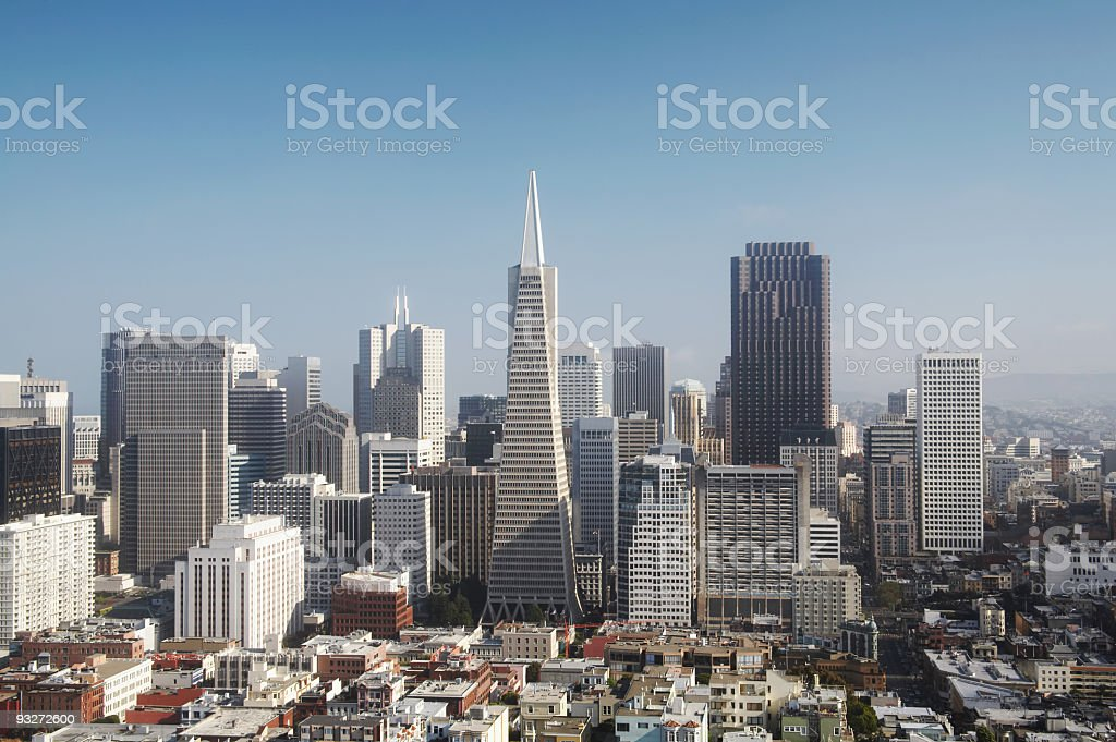 Exhilarating Downtown San Francisco Under the Morning Sun royalty-free stock photo