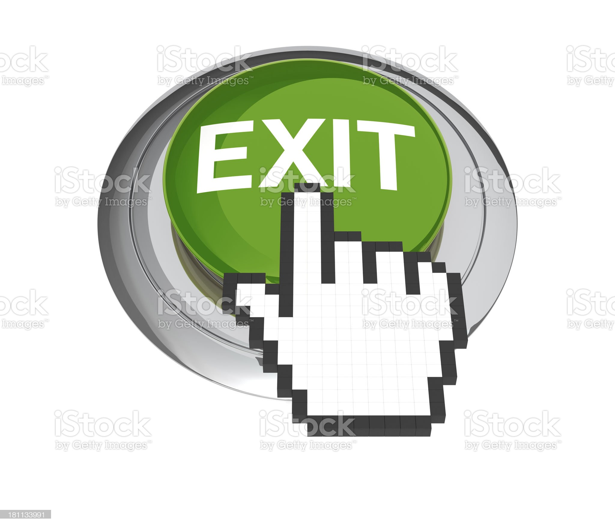 Exit Button royalty-free stock photo