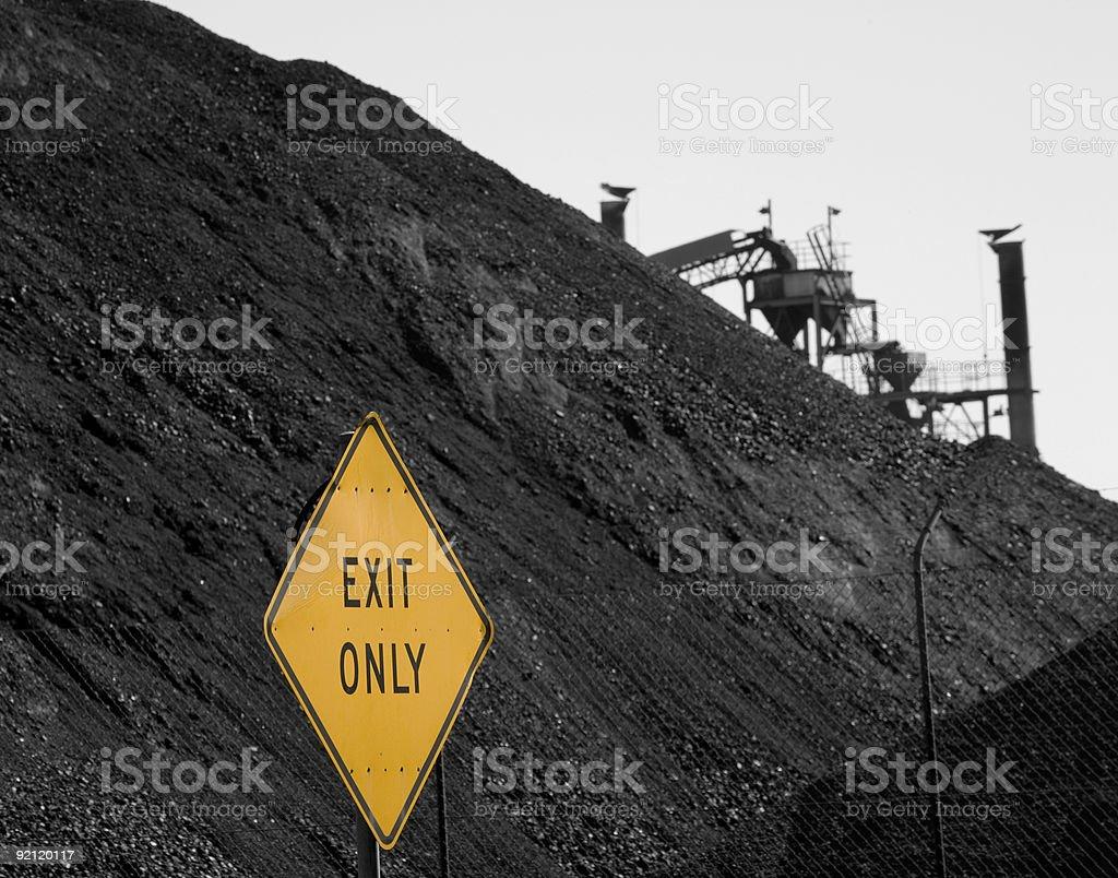 exit coal stock photo