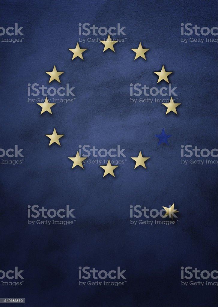 EU exit concept stock photo