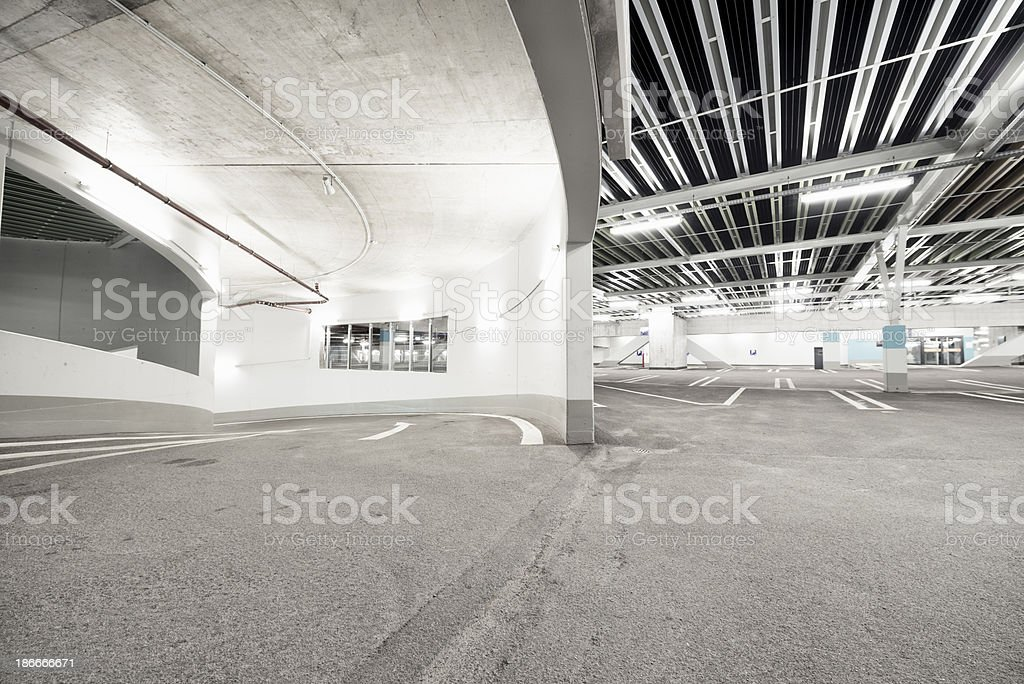 Exit Drive of a Parking Garage royalty-free stock photo