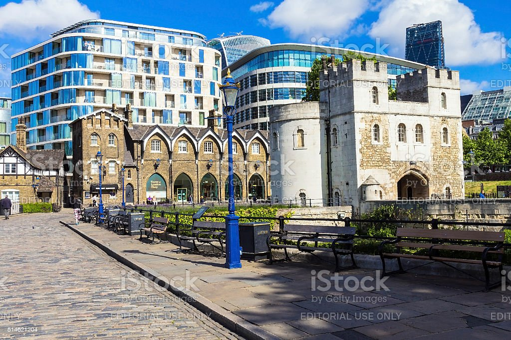 Exit from The Tower of London stock photo