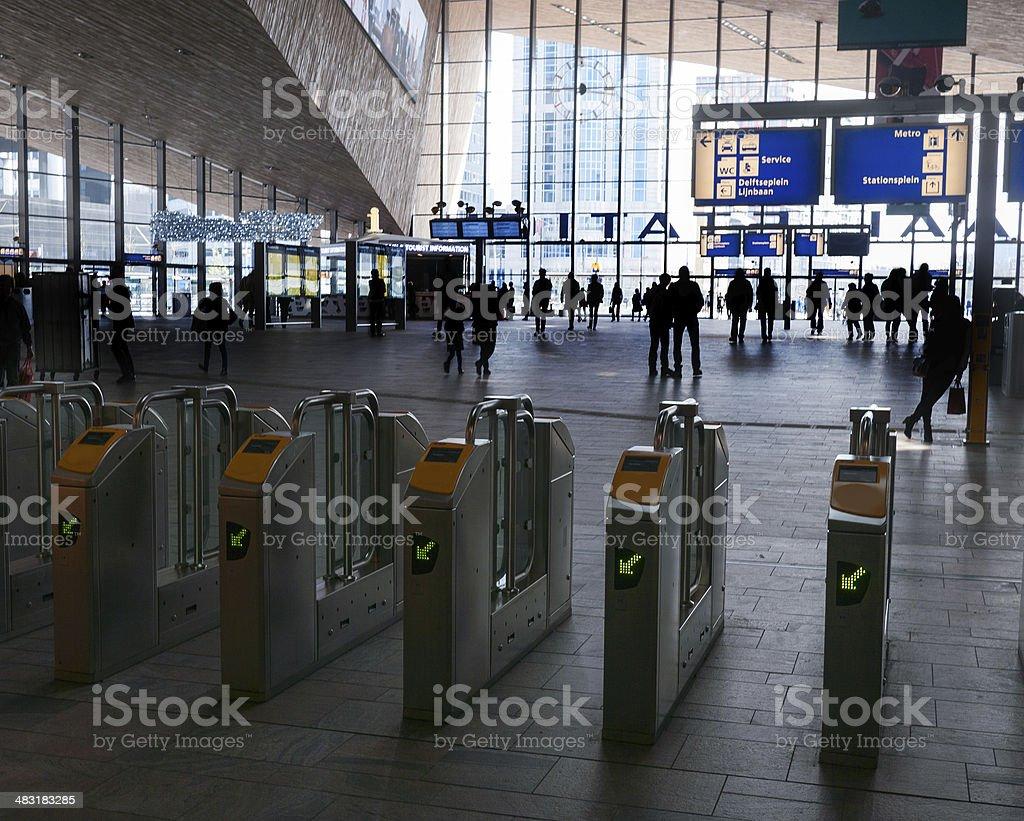 exit gates stock photo