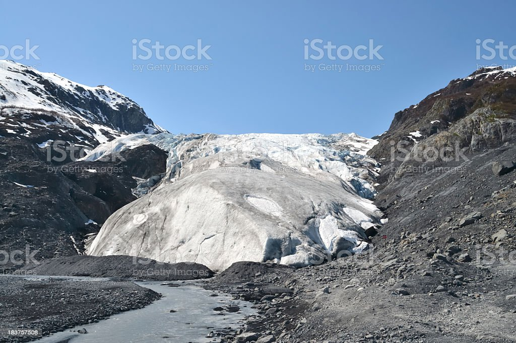 Exit Glacier Melting Away stock photo