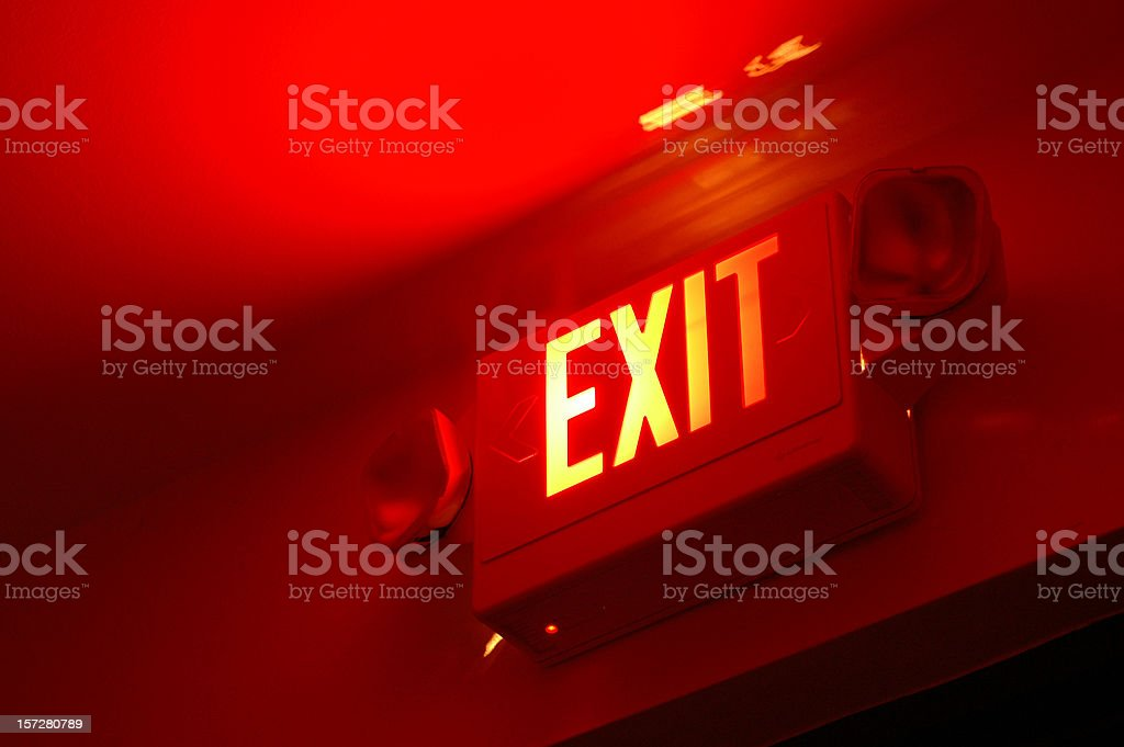 exit here stock photo