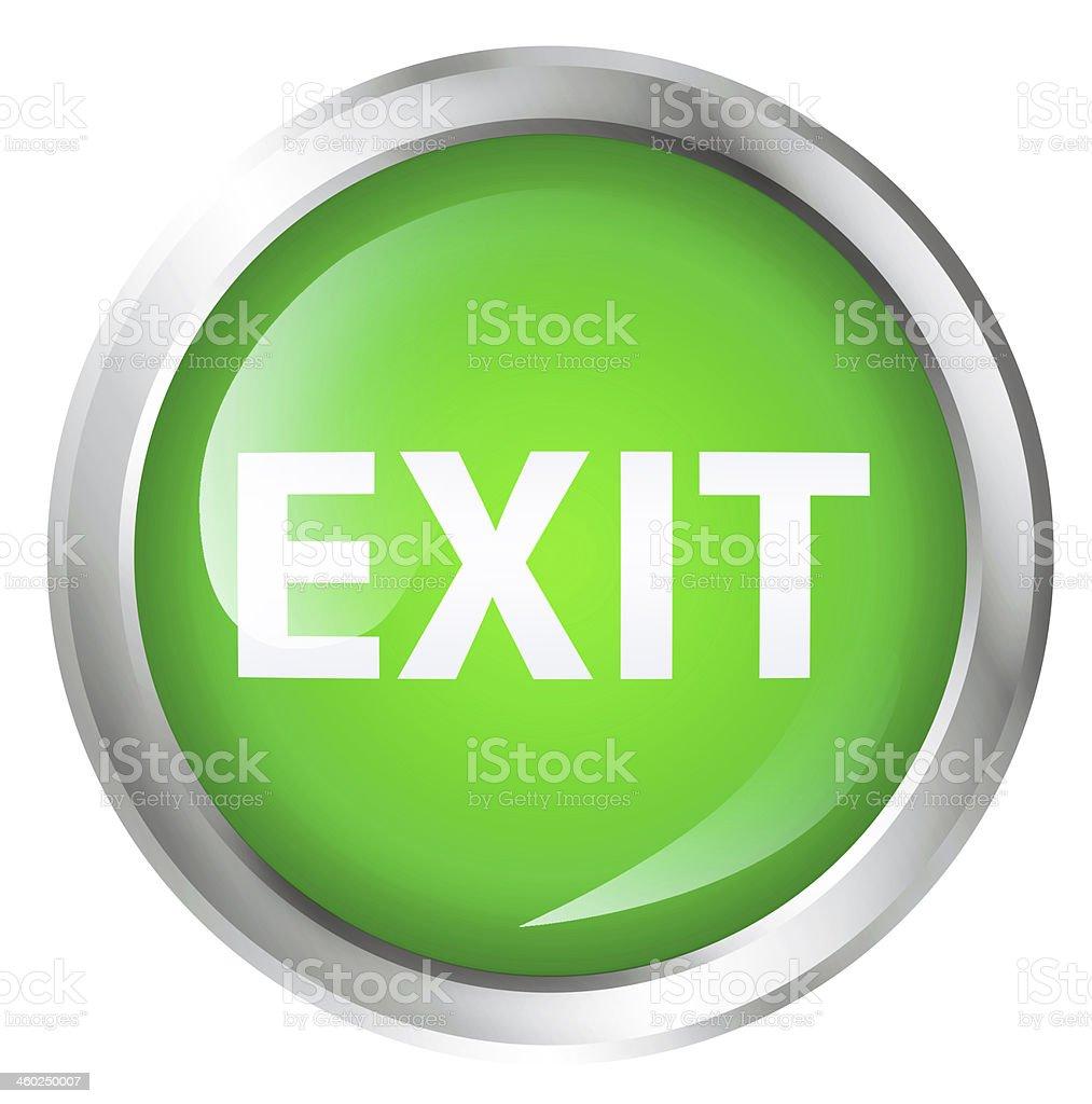 Exit icon stock photo