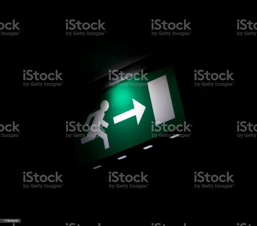Exit in the dark royalty-free stock photo