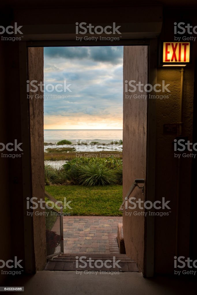 Exit is Calling stock photo