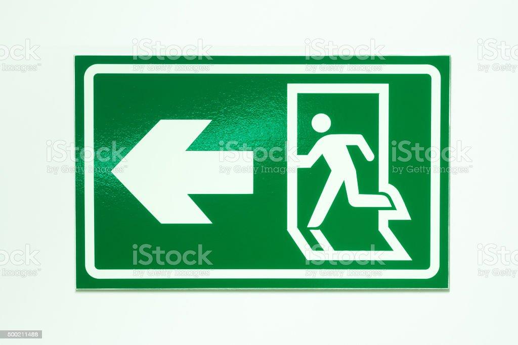 Exit label stock photo