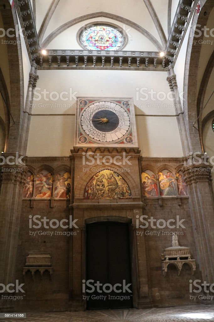 Exit of Santa Maria del Fiore in Florence, Italy stock photo