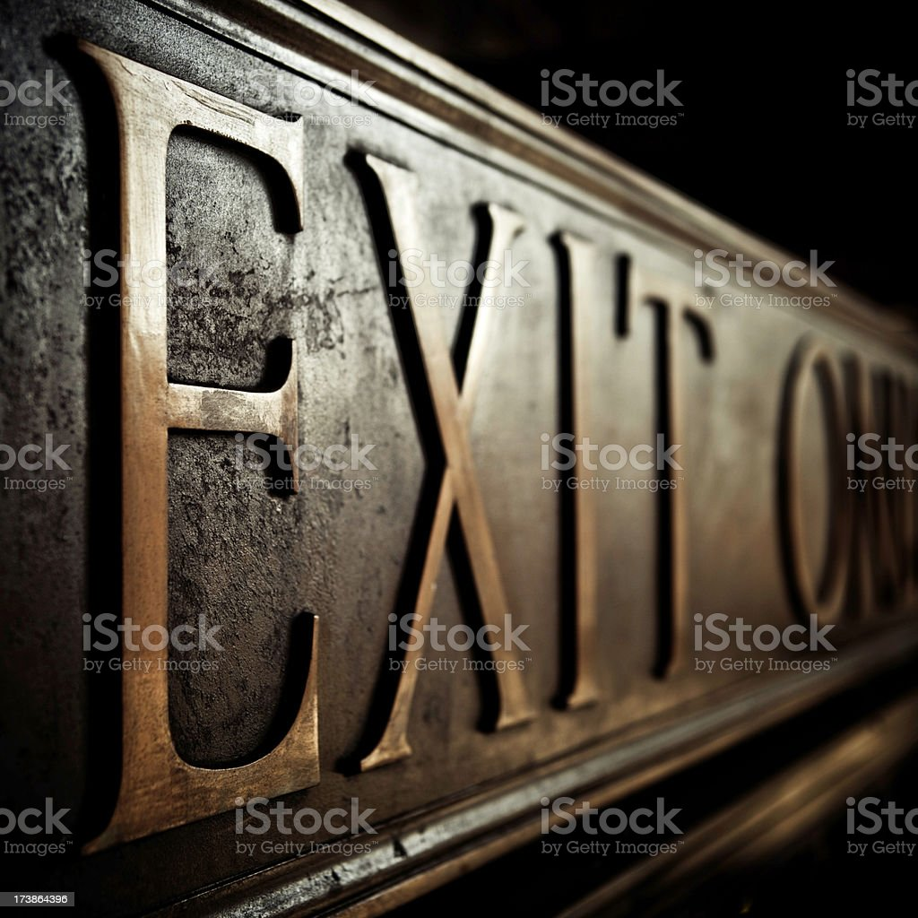 exit only royalty-free stock photo