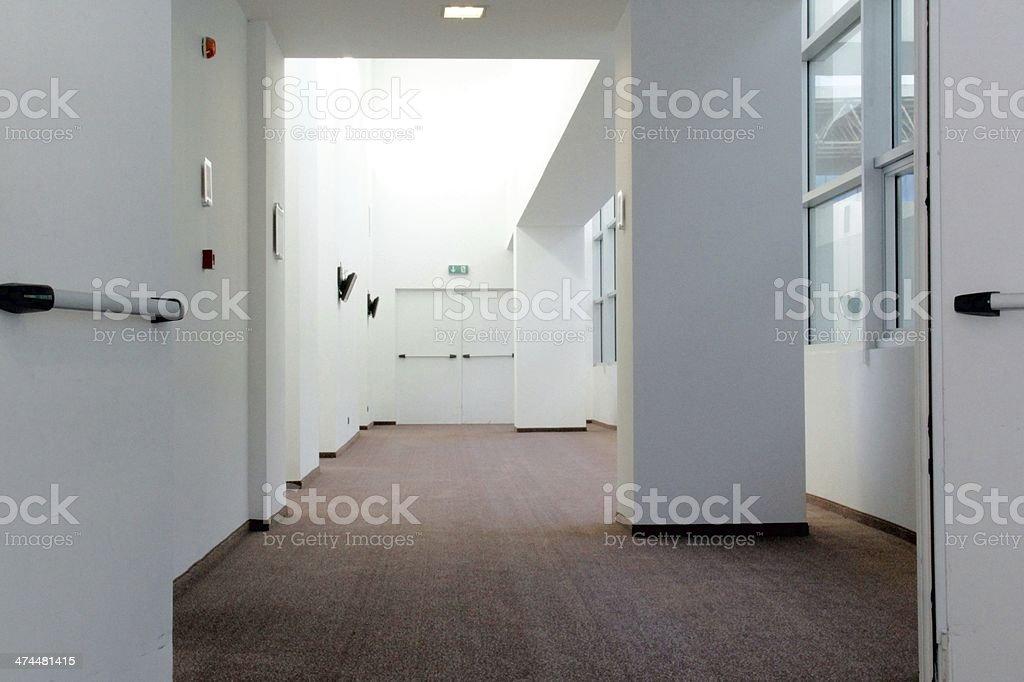 Exit panic stock photo