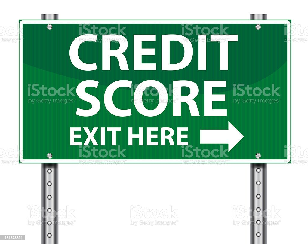 Exit Sign | Credit Score royalty-free stock photo