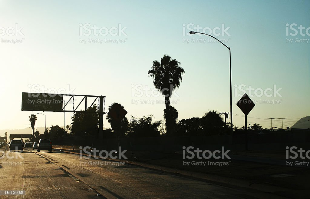 Exit sign of the famous Melrose Ave on 101 freeway. royalty-free stock photo