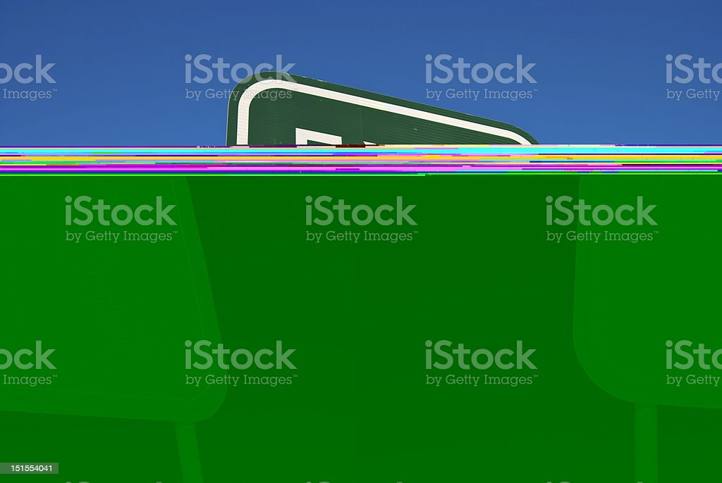 Exit Sign on Freeway stock photo