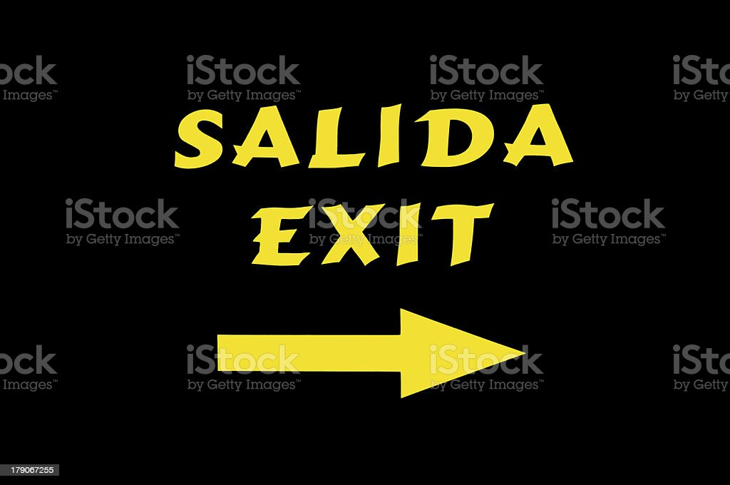 exit sign royalty-free stock photo