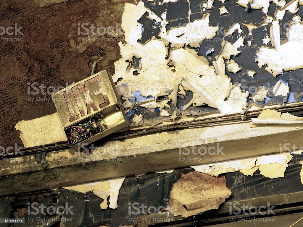 Exit Sign Washington Coliseum royalty-free stock photo
