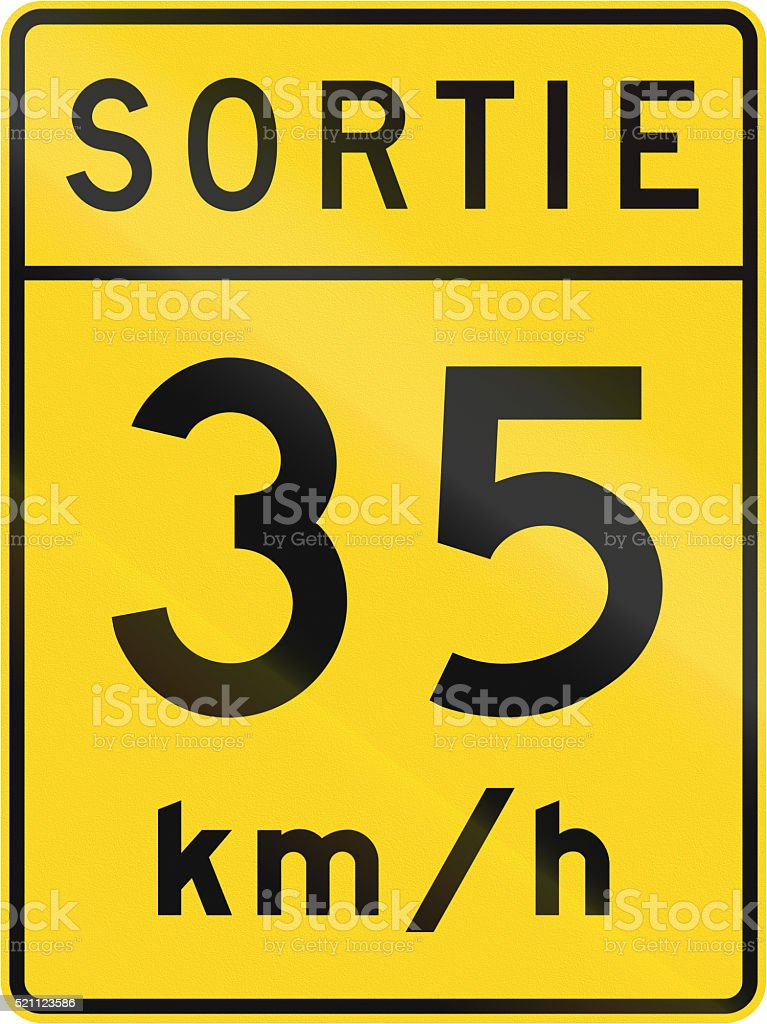 Exit Speed in Canada stock photo