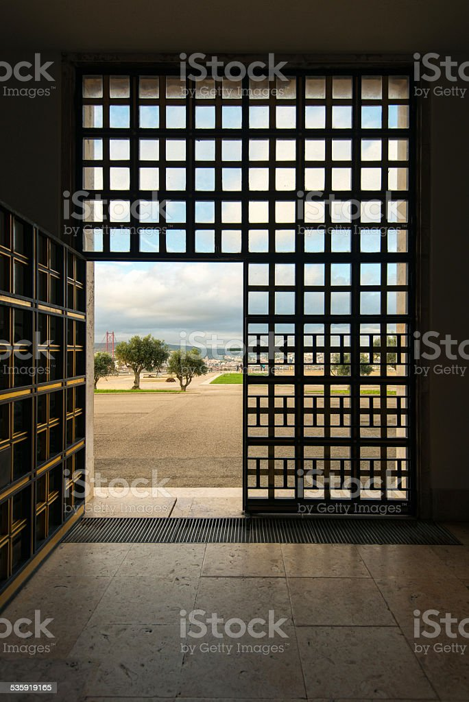 exit through the gate to the nature. Freedom stock photo