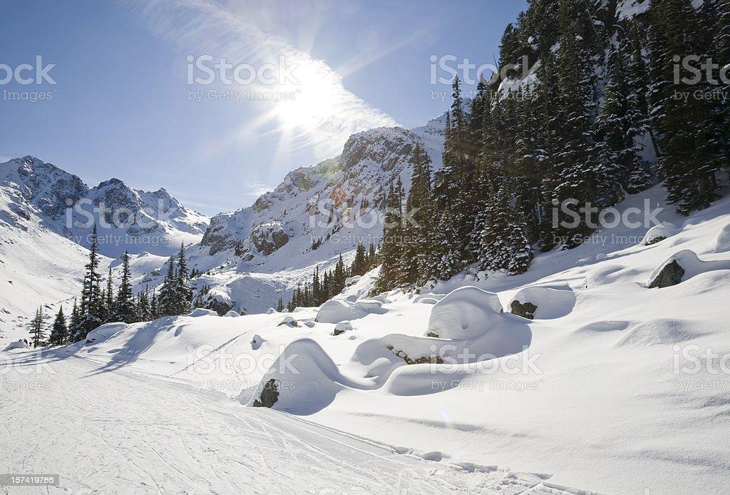 Exit to Blackcomb Glacier royalty-free stock photo
