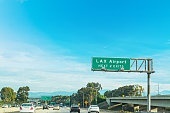 LAX exits sign in Los Angeles