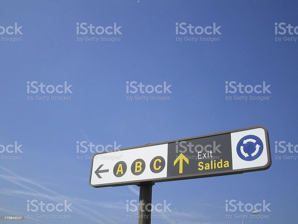 Exit-Salida Sign royalty-free stock photo