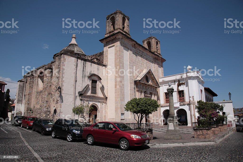 Ex-monastery of San Bernardino de Siena Church in Taxco, Mexico stock photo