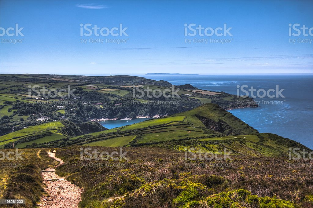 Exmoor National Park coastline stock photo