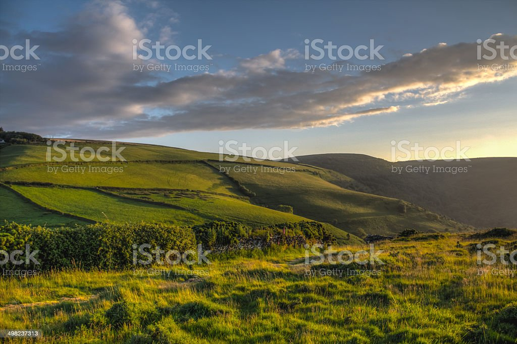 Exmoor National Park farmlands stock photo