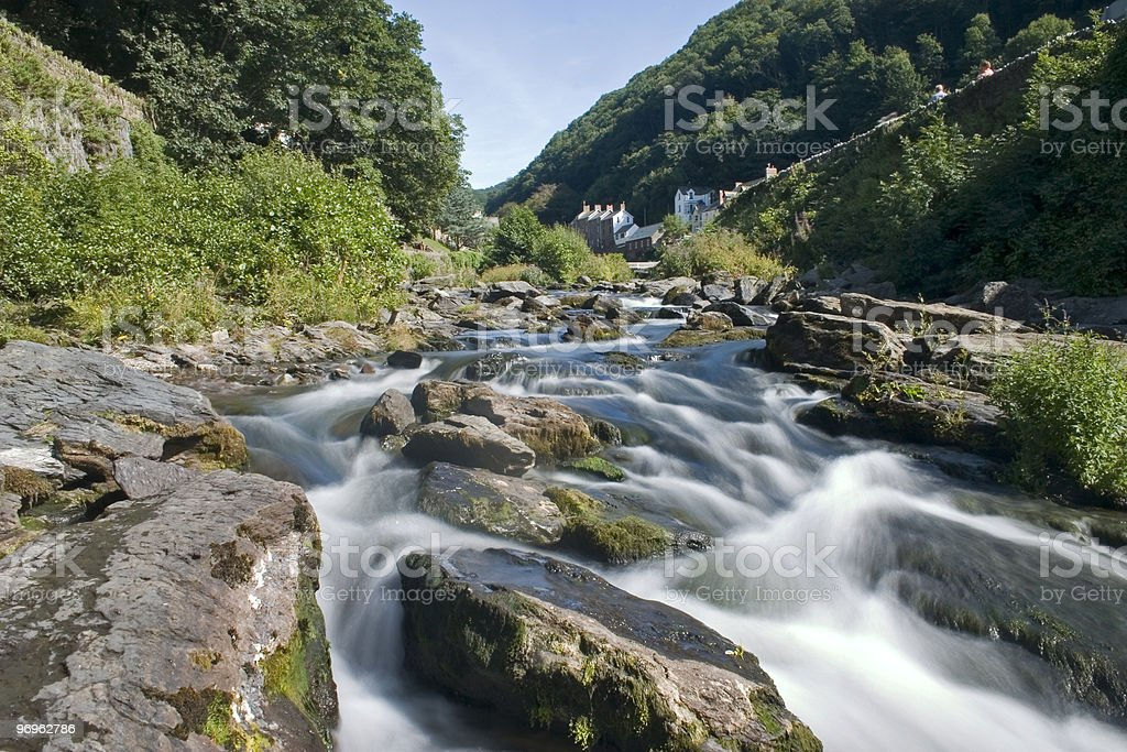 Exmoor National Park - Lynmouth stock photo
