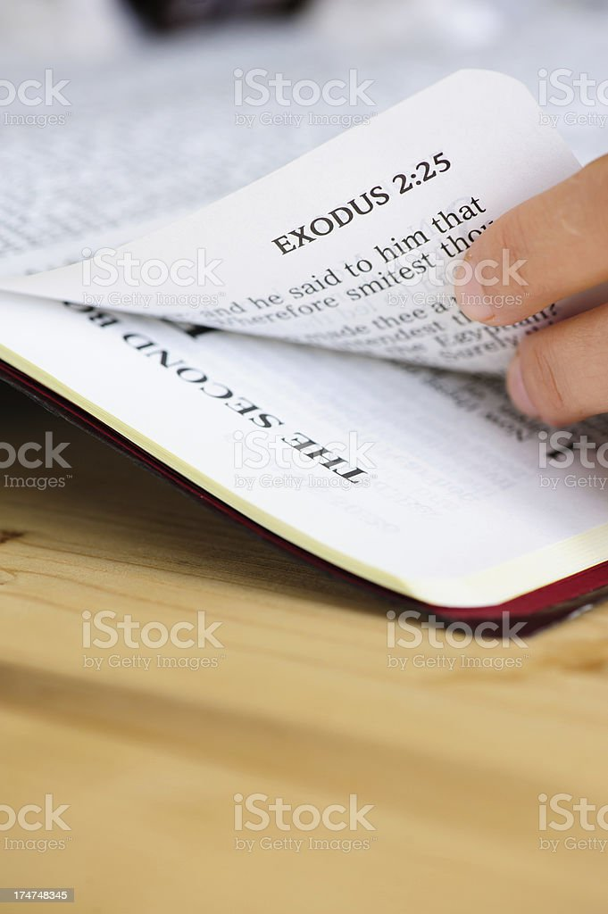 Exodus Book from Bible. stock photo