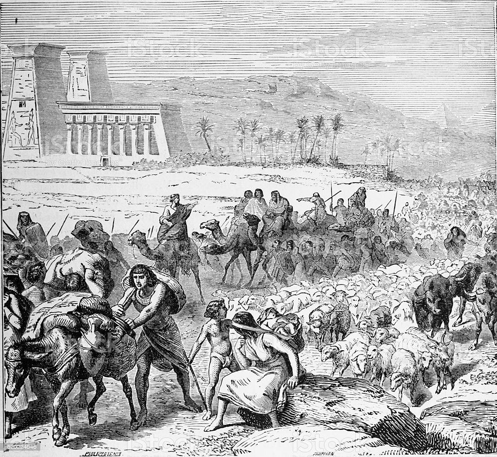 Exodus of Israel stock photo