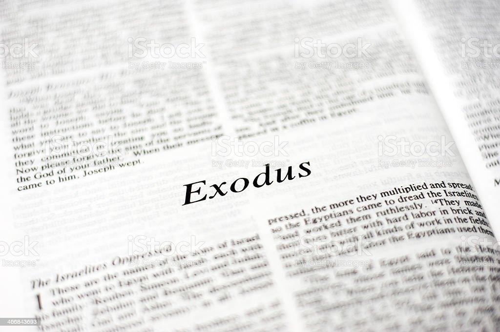 Exodus stock photo