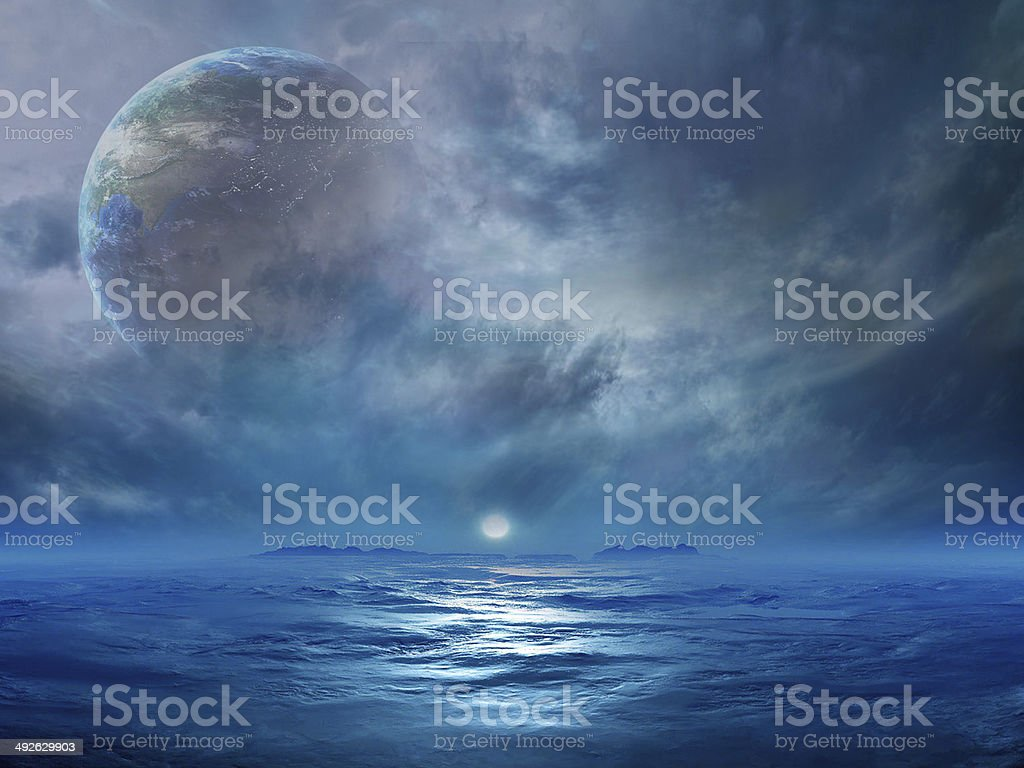 Exoplanet stock photo